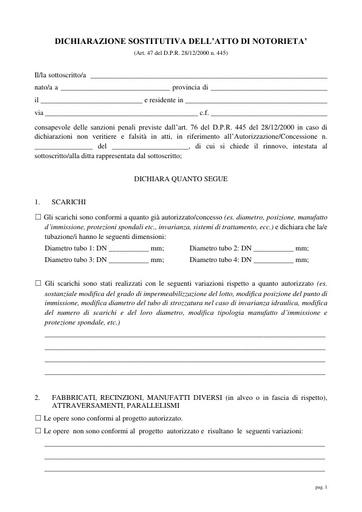 Dichiarazione sostitutiva dell'atto di notorietà per Rinnovo 2017/3